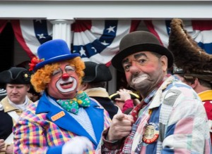 Lexington, Mass.  Patriot Day Parade Clowns 4/14/13