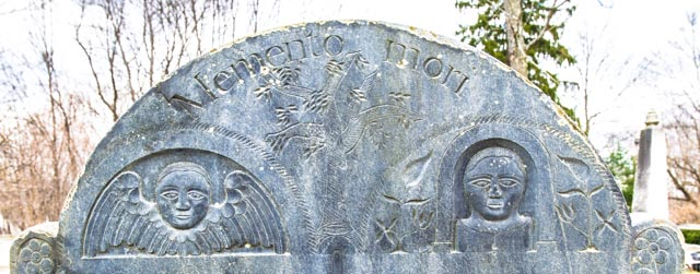 Lexington, Mass. Old Burying Ground, headstone of Benjamin and Patiance Muzzy ca. 1767 4/10/13