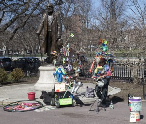 Boston, Mass.:  Boston Garden, Edward Everett & One Man Band 4/25/13