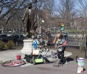 Boston, Mass.:  Boston Garden, Edward Everett & One Man Band 4/25/13