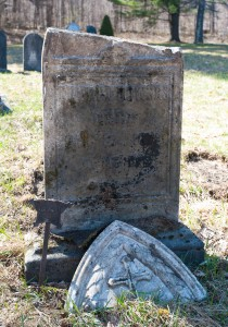 E. Dorset, Vt.:  Old Catholic Cemetery, Civil War veteran's grave 4/13/12