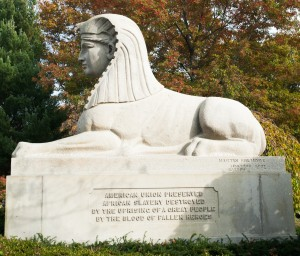 Cambridge, MA:  Mt. Auburn Cemetery, Civil War Memorial 10/27/12
