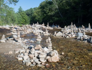 Bondville, VT:  Cairns in Winhall River 7/30/13