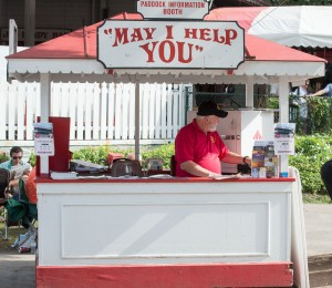 Saratoga, NY:  Race Course Information Booth 8/25/13