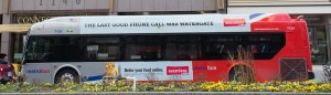 Washington DC:  Bus advert 'The last good phone call was Watergate' 3/7/13