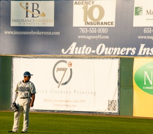 St. Paul, MN:  Saints right fielder  July 23, 2012