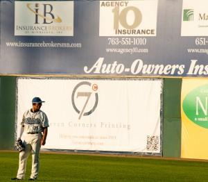 St. Paul, MN:  Saints right fielder  July 23, 2012