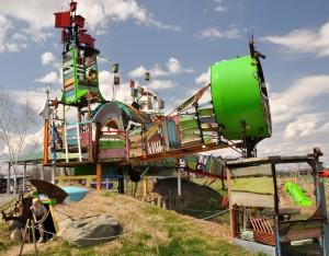 Franconia, MN:  Franconia Sculpture Park 5/7/11