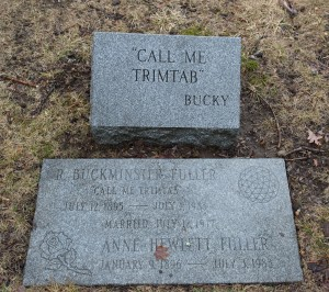 Cambridge, MA:  R. Buckminster Fuller headstones, Mt. Auburn Cemetery 3/30/14