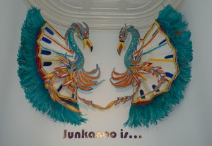 Nassau, Bahamas:  National Art Gallery of the Bahamas, Junkanoo Eagles (2013) 4/15/14