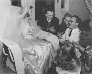 Cleveland, OH:  Anne Kinder's wedding.  June 1942