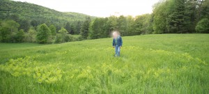 Wells, VT:  Writer in Fairy Ring  5/26/14