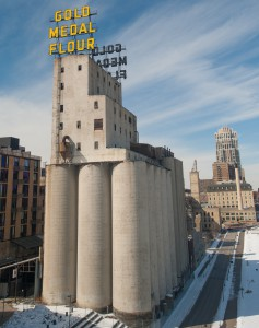 Minneapolis, MN:  Grain Elevators along Mississippi River  3/4/12