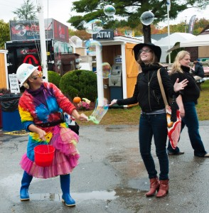 Topsfield, MA:  Topsfield Fair, Chasing Bubbles  9/30/12