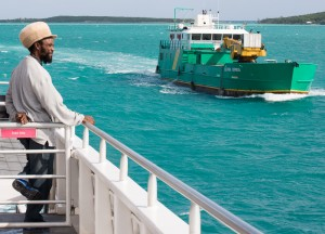 Harbour Island, Bahamas:  Watching the Eleuthera Express  1/8/15