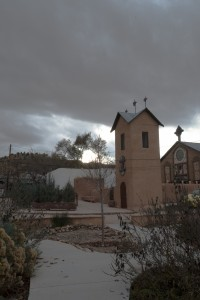 Chimayo, NM:  Bell tower and Chapel of the Santo Nino  11/14/14