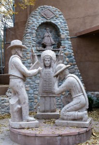 Chimayo, NM:  Monument & shrine to the 'three cultures'  11/14/14
