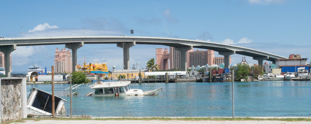 Nassau, BS:  Bridge to Paradise Island & its destination-resort casino  4/6/15