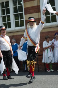 Malvern, Worcestershire 7/4/15  Leaping Morris Dancer.