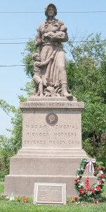 Near Scenery Hill, PA: Madonna of the Trail (1928), one of several erected along the National Road 8/3/12