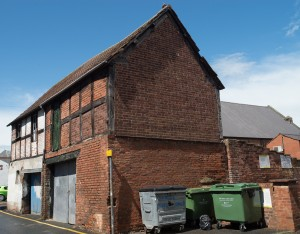 Hereford, England:  16/17th century buildings still in use  7/5/15