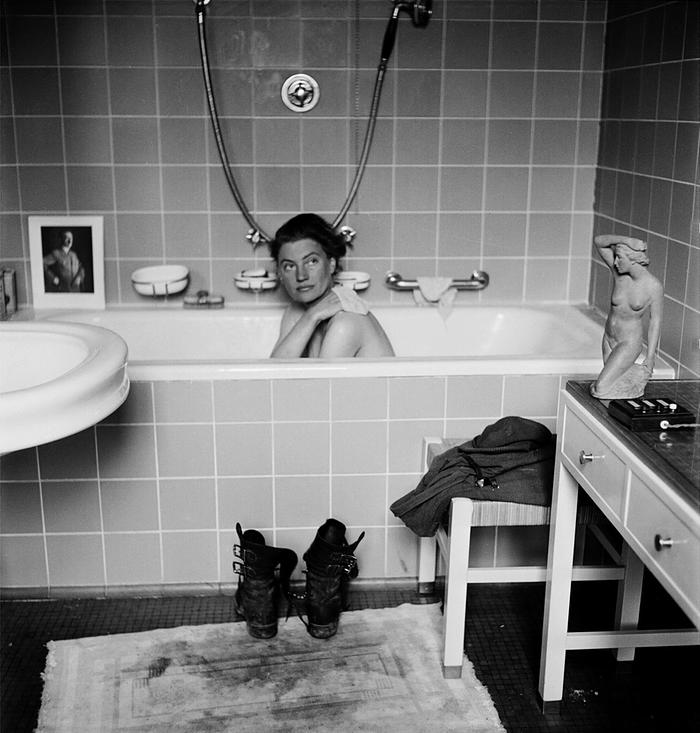 David Scherman: Munich, Germany, 30th April 1945. Lee Miller in Hitler's tub.